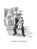 """Say hello to my little friend!"" - New Yorker Cartoon Premium Giclee Print by Benjamin Schwartz"