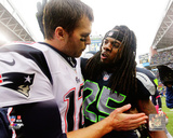 Tom Brady & Richard Sherman 2012 Photo