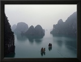 Junks in Ha Long Bay Framed Photographic Print by Catherine Karnow