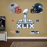 Super Bowl XLIX Party Pack Wall Decal