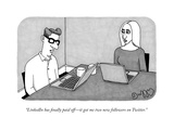 """LinkedIn has finally paid off—it got me two new followers on Twitter."" - New Yorker Cartoon Premium Giclee Print by J.C. Duffy"
