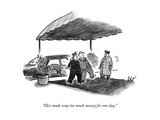 """He's made way too much money for one day."" - New Yorker Cartoon Premium Giclee Print by Frank Cotham"