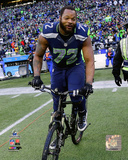 Michael Bennett Celebrates winning the 2014 NFC Championship Game Photo