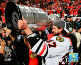 Adam Burish with Stanley Cup Game Six of the 2010 Stanley Cup Finals Photo