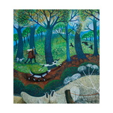 Chilly March Walk Giclee Print by Lisa Graa Jensen