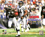Jamal Lewis NFL Single Game Rushing Record- 295 Yards, September 14th, 2003 with Overlay Photo