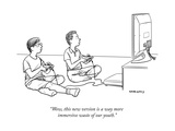"""""""Wow, this new version is a way more immersive waste of our youth."""" - New Yorker Cartoon Premium Giclee Print by Alex Gregory"""