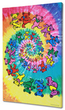 The Grateful Dead - Spiral Bears Stretched Canvas Print