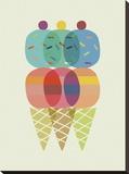 Cone de Glace Stretched Canvas Print by Sophie Ledesma