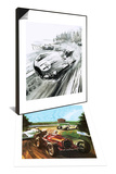 D-Type Jaguar at the 1954 Le Mans & Tazio Nuvolari Set - Poster
