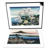Goten-Yama-Hill. Shinagawa on the Tokaido Road & Dawn at Isawa in Kai Province Set - Art Print