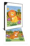 Baby Lion & Baby Tiger Set - Reprodüksiyon