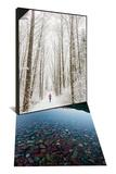 Winter Trail Running & Lake Mcdonald Sunset Set - Art Print