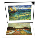 Seascape with Sailboats & Flower Beds of Holland Set - Sanat