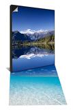Lake Matheson and Mt.Cook, New Zealand & Aitutaki Lagoon, Cook Islands Set - Poster