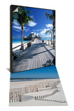 Bora Bora Nui Resort, French Polynesia & Westhampton Beach, Beach Erosion Fence, Hamptons Set - Reprodüksiyon