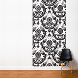 Black on White Tapestries Wall Mural