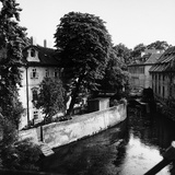 Pietro Ronchetti - Buildings Along a Canal in the Center of Prague Fotografická reprodukce