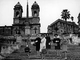 Models on the Steps of Piazza Di Spagna, Rome Photographic Print by Luigi Leoni