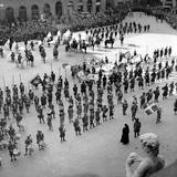 Parade in Historical Costume in Piazza Della Signoria, Florence Photographic Print by Luigi Leoni