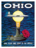 Ohio USA - Gave Flight and Light to the World - Birthplace of Thomas Edison, Wright Brothers Art by Robert Geissmann