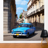 Cuban Blue Wall Mural