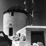 A Windmill in Greece Photographic Print by Pietro Ronchetti