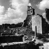 View of the Ruins of Roman Structures and the Hellenistic Gateway of the Ancient City of Perge Photographic Print by Pietro Ronchetti