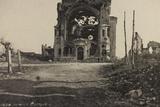 Visions of War 1915-1918: Rubble of a Church Bombed Near Gorizia Photographic Print by Vincenzo Aragozzini