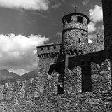 The Imposing Walls and Two Turrets of the Castello Di Fènis, Nux, Aosta Photographic Print by Pietro Ronchetti