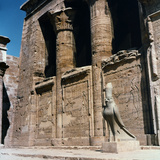 Detail of the Interior Courtyard of the Temple of Hathor at Dendera, Upper Egypt Photographic Print by Pietro Ronchetti
