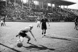 Soccer World Cup 1934: Match at the National Pnf (National Fascist Party) in Rome Photographic Print by Luigi Leoni