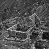 Pietro Ronchetti - Ruins of Houses of the Lost City of the Incas, Machu Picchu, Peru Fotografická reprodukce