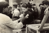 Peddler of Gelato (Ice Cream-Seller) Photographic Print by Luigi Leoni