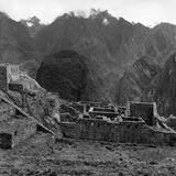 Pietro Ronchetti - Ruins of the Lost City of the Incas, Machu Picchu, Peru Fotografická reprodukce