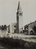 The Old Church of Premariacco During the First World War Photographic Print by Luigi Verdi