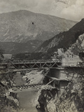 Bridge over the River Isonzo in Caporetto During the First World War Photographic Print by Luigi Verdi
