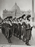 Swiss Guards at San Pietro, Vatican Photographic Print by Luigi Leoni