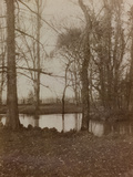 WWI: the Pond in the Park of Villa Brazza, Hospital of War N. 17, Soleschiano Manzano Photographic Print by L. Verdiani