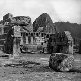 Ruins of the Lost City of the Incas, in the Background, Machu Picchu in Peru Can Be Seen Photographic Print by Pietro Ronchetti