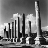 The Columns on the Column-Lined Street from the Hellenistic and Roman Period Photographic Print by Pietro Ronchetti