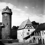 A House Near a Fortified Tower in the Czech Republic Photographic Print by Pietro Ronchetti