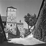 Pietro Ronchetti - View of an Old Neighborhood in Nuremberg Fotografická reprodukce