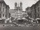 View of Piazza Di Spagna with Trinità Dei Monti Photographic Print by Luigi Leoni