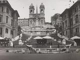 View of Piazza Di Spagna with Trinità Dei Monti Photographic Print by Luigi Leoni
