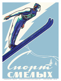 (Sport of the Brave) - Skiing in Russia Prints by Leonid Tutrumov