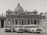 Pullman of the Faithful in St Peter's Square Photographic Print by Luigi Leoni