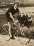 Portrait of the Bicycle Rider Ghilardi Photographic Print by Luigi Leoni