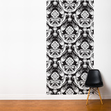 White on Black Tapestries Wall Mural