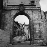 Pietro Ronchetti - Gateway in the Walls of L'Aquila Fotografická reprodukce